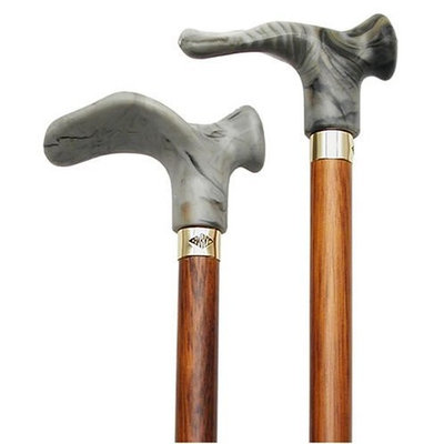 Harvy Anatomical Cane Cherry Shaft Grey Acrylic Handle -Affordable Gift! Item #DHAR-9788100