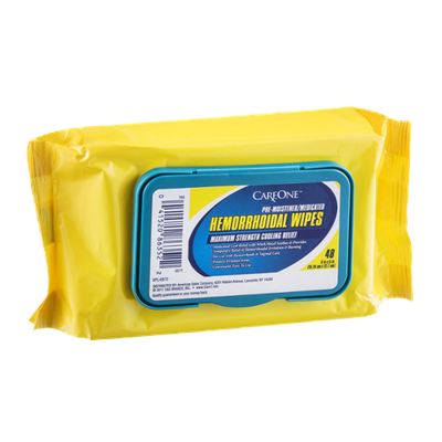 CareOne Hemorrhoidal Wipes Maximum Strength Cooling Relief - 48 CT