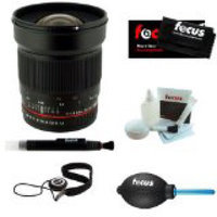 ROKINON RK24MAF-N 24mm F1.4 ED Wide-Angle Lens for Nikon AE W/ Chip + Care Kit