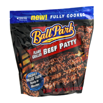 Ball Park Flame Grilled Beef Patty - 6 CT