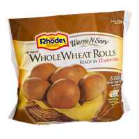 Rhodes Bake N Serv Whole Wheat Rolls - 6 CT