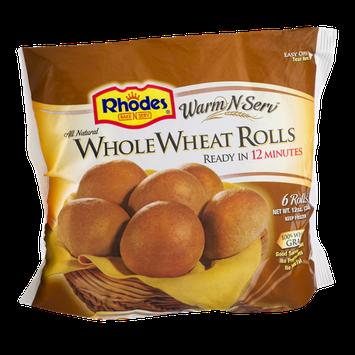 Rhodes Bake N Serv Whole Wheat Rolls - 6 CT