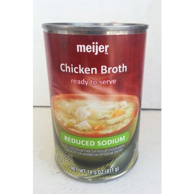 Chicken Broth by Meijer Reduced Sodium Ready To Serve 14.5oz (4 Pack)...mtc