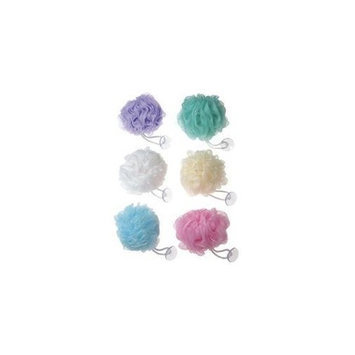 Swissco Mesh Body Sponge With Suction Cup - Light Colors Assorted (Pack of 5)