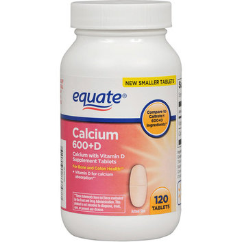 Equate Calcium 600 + D Dietary Supplement 120 ct