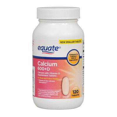 Equate Calcium 600 + D Dietary Supplement 120 ct