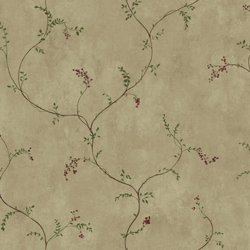 York Wallcoverings, Inc. York Wallcoverings Hearts & Crafts III Small Vine with Berries Wallpaper