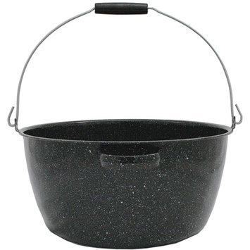 Granite Ware 16-Quart Preserving Kettle, Black