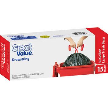 Great Value Drawstring Trash Bags