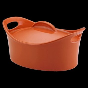Rachael Ray Oval Casserole with Lid - Orange (4.25 Qt)