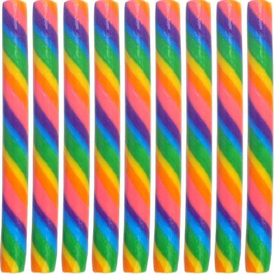 Kencraft Handcrafted Circus Candy Sticks Cherry Rainbow (7.5