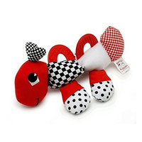 Genius Babies Baby's First Caterpillar Pal - Black, White & Red Teether Toy