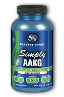 AAKG, Simply Unflavored Natural Sport 300g Powder