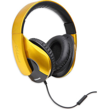 Syba Oblanc OG-AUD63070 SHELL200 Lightweight and Comfortable Fit Audio Headphones with In-line Microphone, Golden
