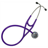 Ultrascope Adult Stethoscope with Purple Tubing, Glitter