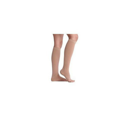 Juzo 2002ADSBSH10 I I Soft Open Toe Knee High Short 30-40 mmHg with Silicone Border - Black