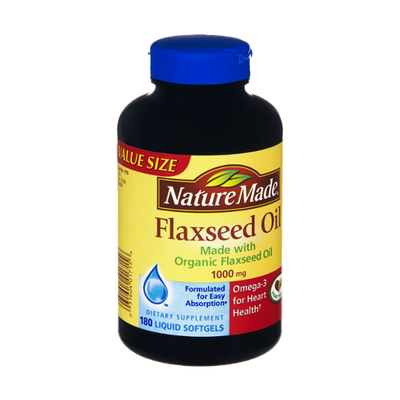 Nature Made Organic Flaxseed Oil 1000mg/Omega 3 Dietary Supplement Softgels - 180 CT