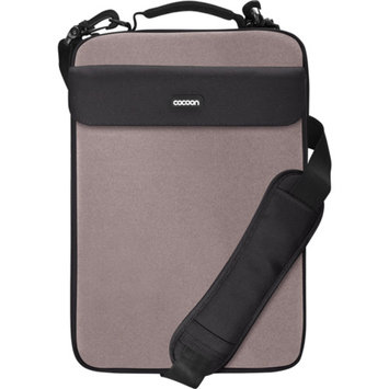COCOON INNOVATIONS Cocoon CLS407GY NoLita II Laptop Sleeve with Handle and Shoulder Strap for up to 16 inch Laptops - Gun Grey