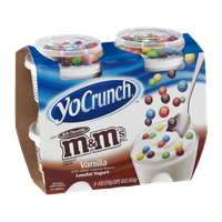 YoCrunch Vanilla Lowfat Yogurt with Milk Chocolate M&M's - 4 CT