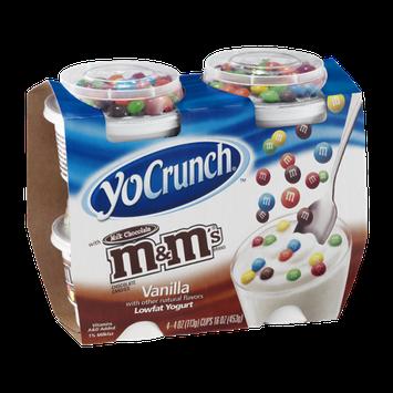 YoCrunch Vanilla Lowfat Yogurt with Milk Chocolate M&M's - 4 CT