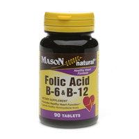 Mason Natural Folic Acid B-6 & B12