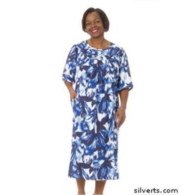 Silvert's Silverts 210000803 Womens Value Priced Adaptive Open Back Dress Purple Haze - Medium