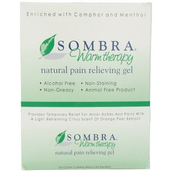 Sombra Dispenser with Sombra Warm Therapy Natural Pain Relieving Gel, 100, 5 Gram Packets, 100-Count