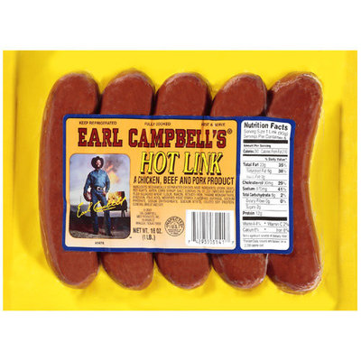 Earl Campbell: Hot Link Sausage, 16 Oz