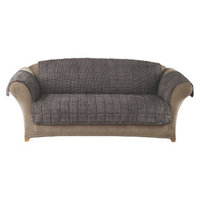 Sure Fit Quilted Mini Chick Furniture Friend Sofa Cover - Black/Brown