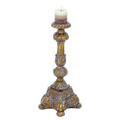 Uma Polystone Candle Holder 22h, 8w