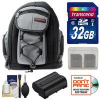 Precision Design PD-MBP ILC Digital Camera Mini Sling Backpack with 32GB Card + EN-EL15 Battery + Accessory Kit for Nikon 1 V1 Camera