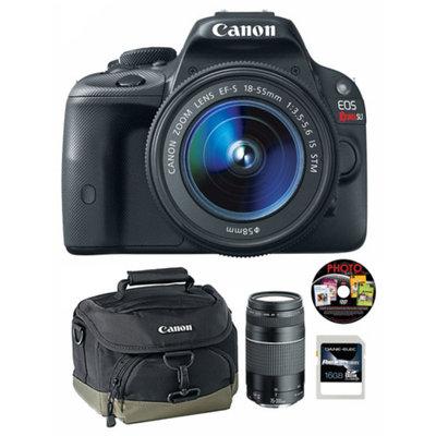 Canon Black EOS Rebel SL1 18MP Digital SLR Camera Kit, Includes 18-55mm and 75-300mm Lenses