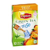Lipton To Go Green Tea Mandarin & Mango Sugar Free Iced Tea Mix- 10 CT