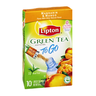 Lipton® To Go Green Tea Mandarin & Mango Sugar Free Iced Tea Mix