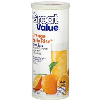 Great Value: Orange Early Rise Drink Mix, 3.38 Oz