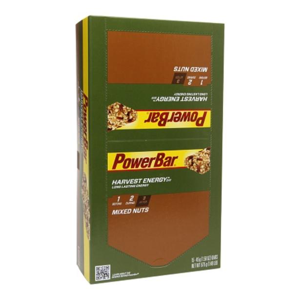PowerBar Harvest Energy Bars Long Lasting Mixed Nuts