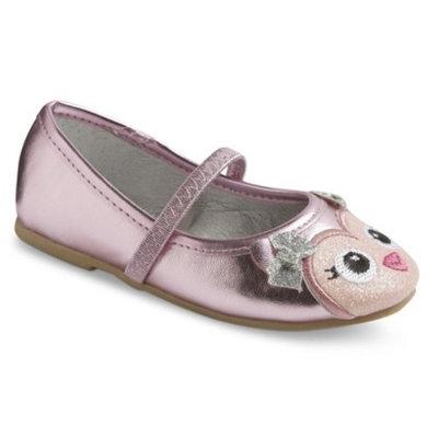 Toddler Girl's Tess Owl Ballet Shoes - Pink 8