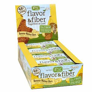 Gnu Foods Banana Walnut Flavor & Fiber Bars