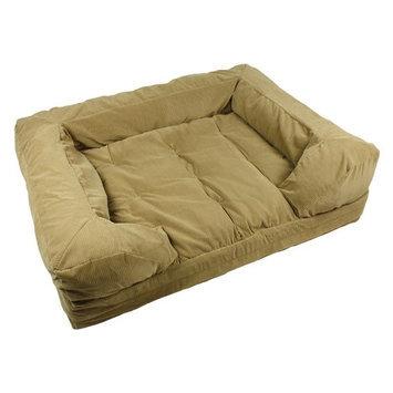 Snoozer Luxury Forgiveness Sofa Toro Antique Gold with Navy Cord, Size: Medium