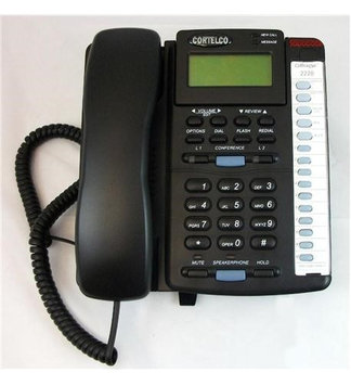 Cortelco Colleague 2-Line Enhanced Corded Telephone - Black ITT-2220BK