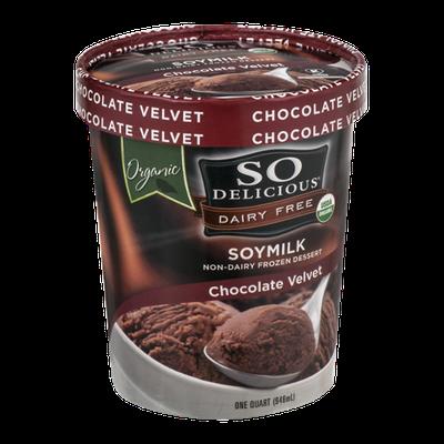 So Delicious Dairy Free Soymilk Frozen Dessert Chocolate Velvet