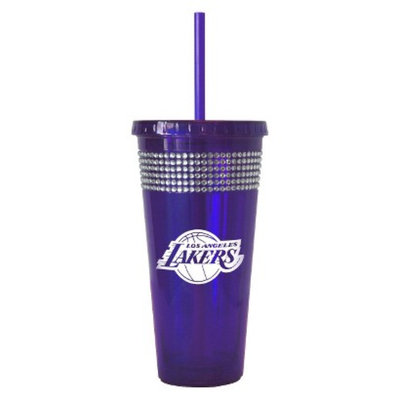 Boelter Brands NBA 2 Pack Los Angeles Lakers Bling Straw Tumbler -