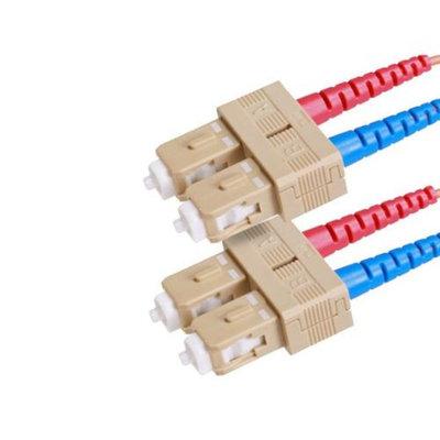 Monoprice Fiber Optic Cable, SC/SC, OM1, Multi Mode, Duplex - 6 meter (62.5/125 Type) - Orange