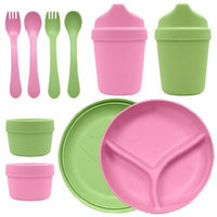 Green Sprouts 10 Piece Sprout Ware Dinner Set, Blue/Green (Discontinued by Manufacturer)