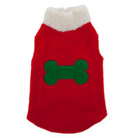 Top PawA Pet HolidayTM Bone Fleece Sweater
