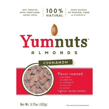 Yumnuts Almonds Cinnamon, 5.75 ounce bag (Pack of 4)
