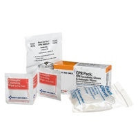 First Aid Only Cpr Pack, Contains Cpr Faceshield, 2 Exam Quality Disposable Gloves, 3 Antiseptic Wipes, 1 Kit