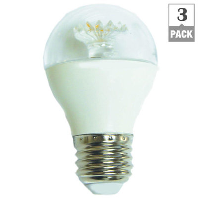 60W Equivalent Daylight G16.5 Dimmable Clear LED Light Bulb (3-Pack)