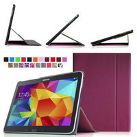 Fintie Smart Book Cover Case Supports Three Viewing Angles for Samsung Galaxy Tab 4 10.1 inch tablet, Purple