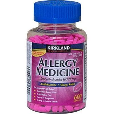 Benadryl Diphenhydramine HCI 25 Mg - Kirkland Brand - Allergy Medicine and AntihistamineCompare to Active Ingredient of Benadryl® Allergy - 600 Count